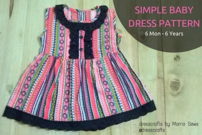 Simple Baby Dress Pattern by Dresscrafts ( 6Mon-6T) at Makerist - Image 1
