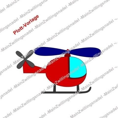 Main Hubschrauber - Plottvorlage bei Makerist