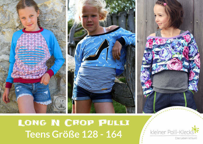 eBook • LongNCrop Pulli Teens • Gr. 128 - 164 bei Makerist - Bild 1