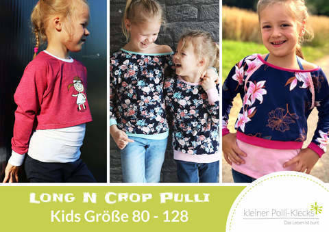 eBook • LongNCrop Pulli Kids • Gr. 80 - 128 bei Makerist