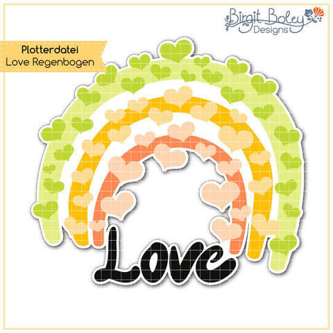 Birgit Boley Designs • Love Regenbogen bei Makerist