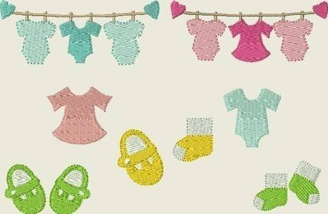 Stickdatei Babywäsche  * Baby * Schuhe * Füße 240  bei Makerist