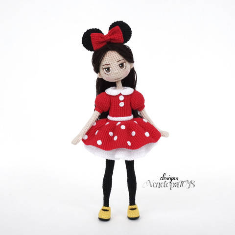 CHAROCROCHET PATRONES: MINNIE MOUSE | 480x480