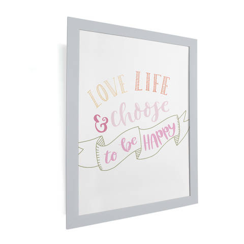 Plotterdatei - Love life and choose to be happy! bei Makerist