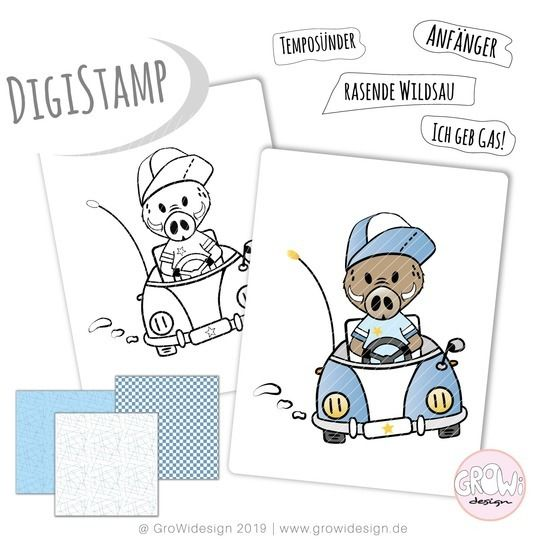 SpeedySAU DigiStamp bei Makerist - Bild 1