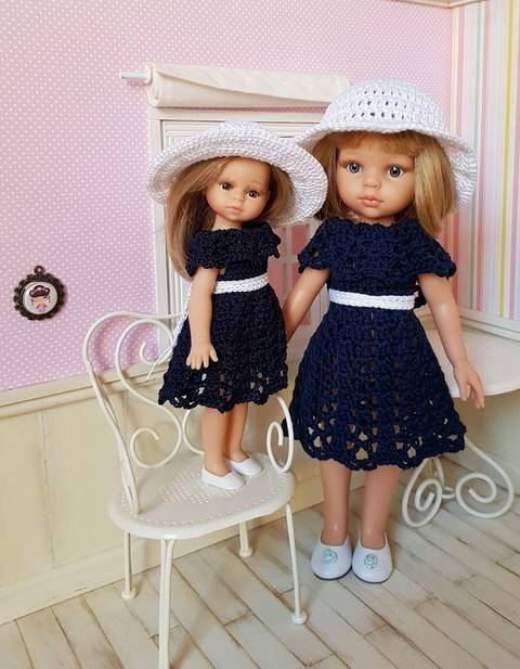 """Twins"" crochet pattern for Paola Reina doll at Makerist"