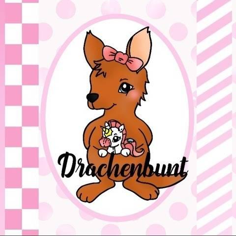 Digistamp Set Digipapier Känguru mit Einhorn Kuscheltier bei Makerist