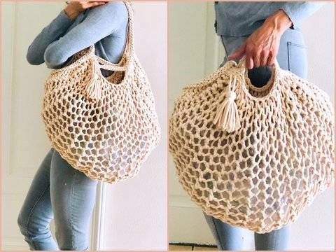 Knitting Pattern – Shopping Bag – BIG NETTY – No.218E