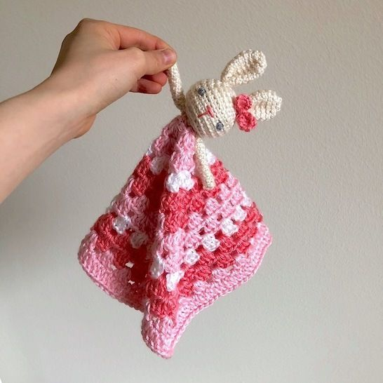 Bunny Lovey Security Blanket for Baby at Makerist - Image 1