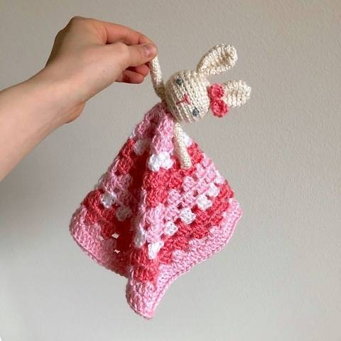 Bunny Lovey Security Blanket for Baby