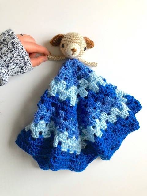 Puppy Dog Lovey Security Blanket for Baby