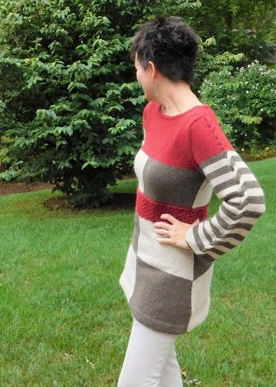 Colorblock Tunic (Knitting Pattern) at Makerist - Image 1