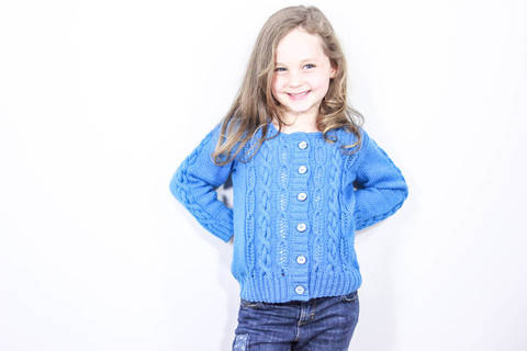 Atlantic Child's Cardigan (Knitting Pattern)