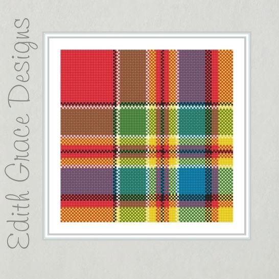 Chattan Tartan Needlepoint Pattern at Makerist - Image 1