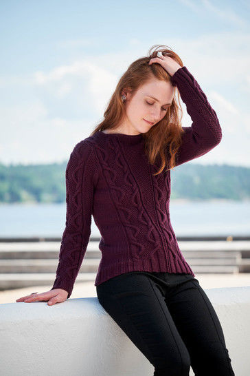 Free Falling Pullover Sizes XS-2XL PDF Knitting Pattern at Makerist - Image 1