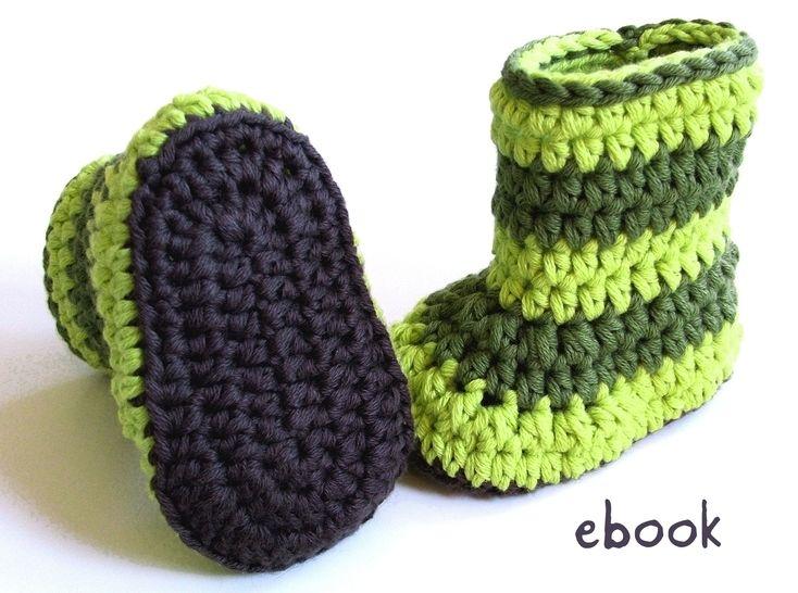 ❤ Häkelanleitung ❤ Baby Booties Froggy bei Makerist - Bild 1