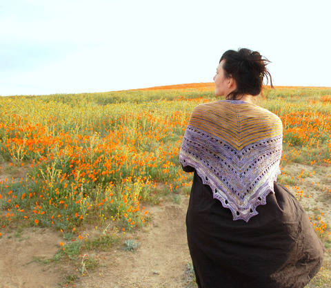 Blooming Big Sur shawl