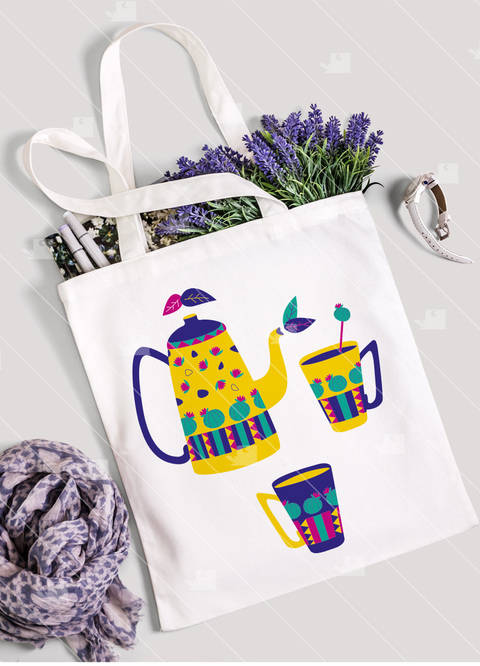 Tea Lover 3 - Teekannen und Kaktusbecher - Plotterdatei  bei Makerist