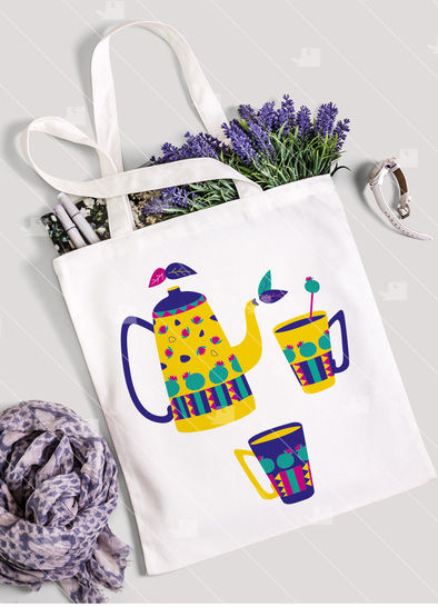 Tea Lover 2 - Teapot and cactus cups - Cutting file at Makerist - Image 1