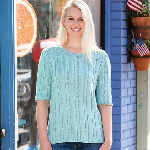 Seaside Heights Cabled Top #202 at Makerist