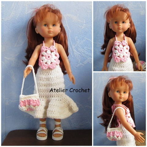 """Flower"" crochet pattern for Chéries Corolle doll at Makerist"