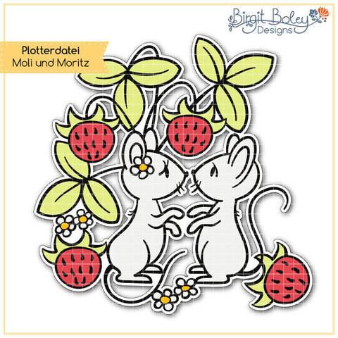 Birgit Boley Designs • Maus Moli und Moritz bei Makerist