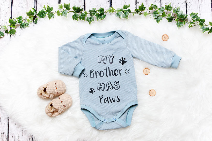 """Cutting file """"My brother has paws""""   """"My sister has paws"""" at Makerist - Image 1"""