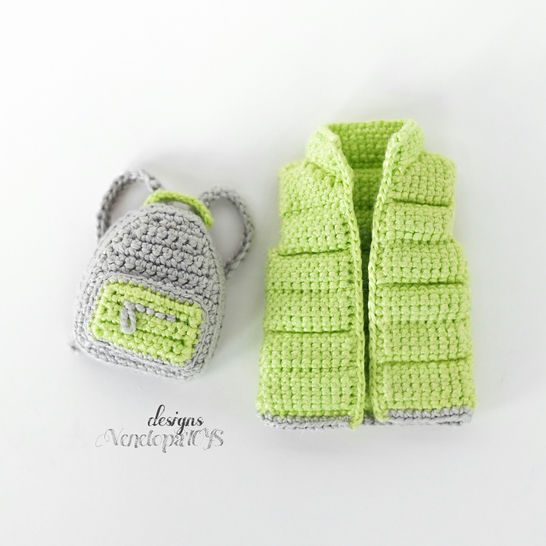 Crochet Vest and backpack for Doll Amigurumi Pattern at Makerist - Image 1