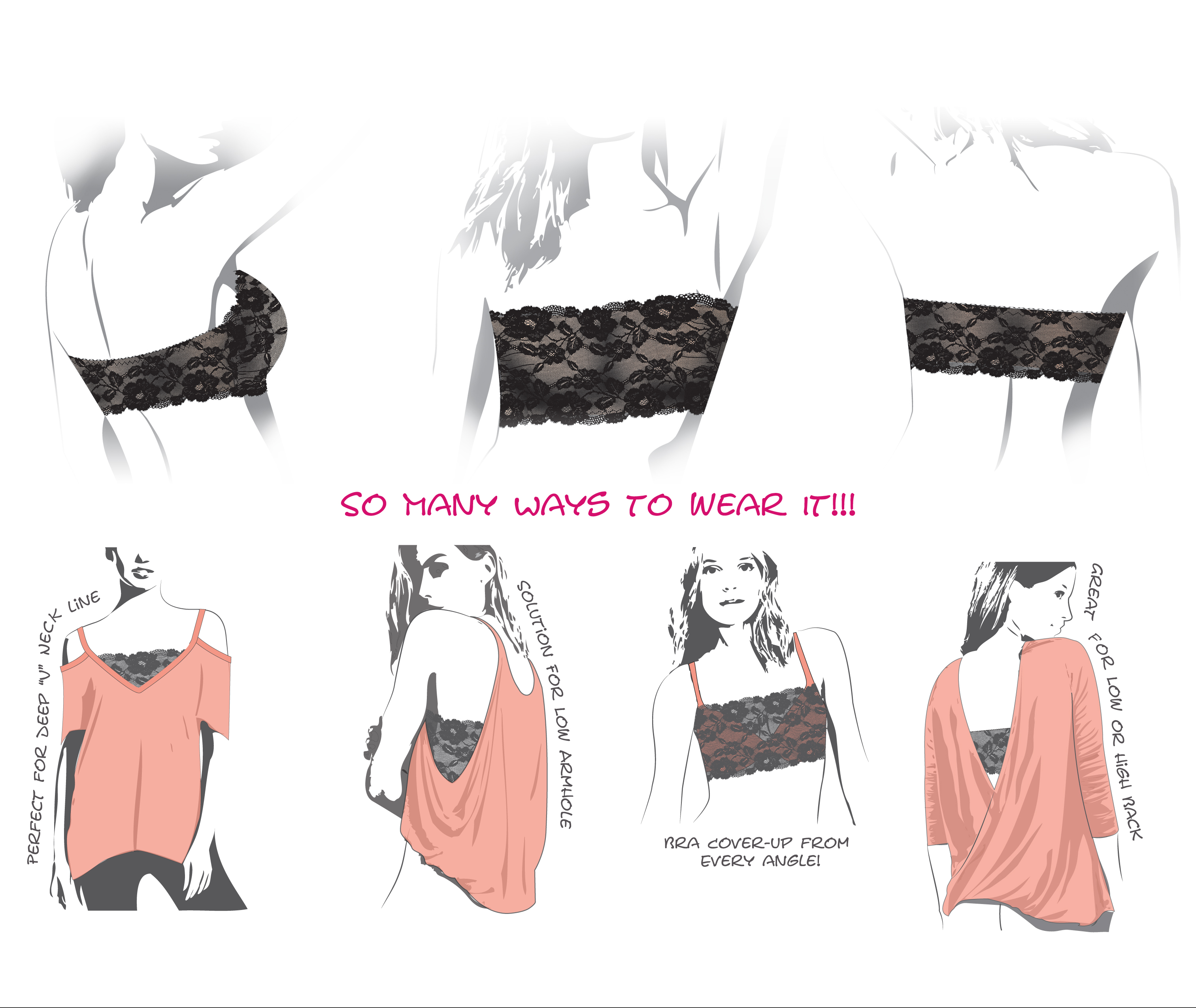 Lace Bandeau - Sewing Pattern and Sewing Guide
