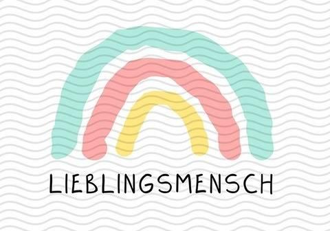 """Plotter-Datei Regenbogen """"Lieblingsmensch"""" bei Makerist"""
