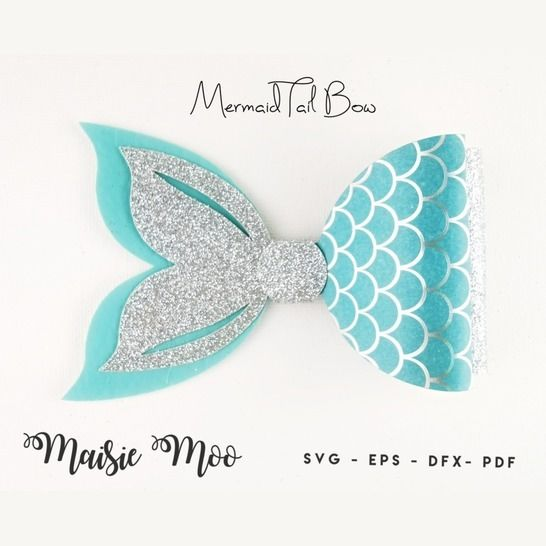 Mermaid Tail Bow Template - Bow SVG & PDF at Makerist - Image 1