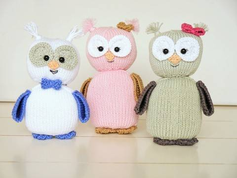 Knitting Pattern - Emily Owl - No.162E at Makerist