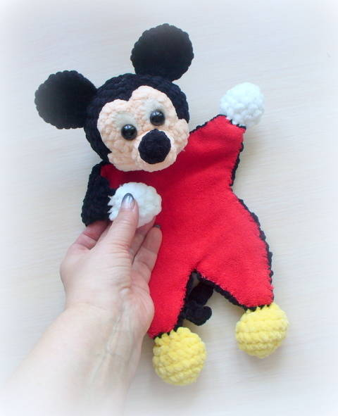 Crochet Mickey lovey / ragdoll at Makerist