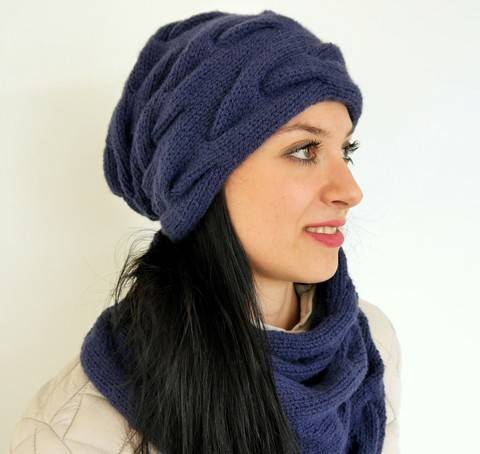 Knitting Pattern – Cable-Knit Beanie – 109E at Makerist