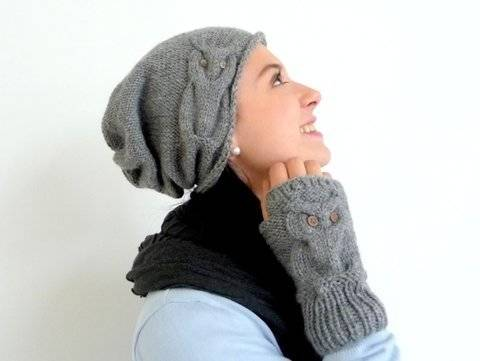 "Knitting Pattern – Beanie ""FANCY OWL"" – all sizes – No.102E at Makerist"