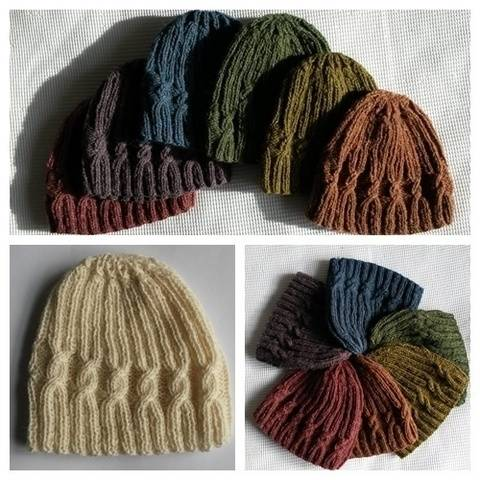 Small Spiral Cable Hat at Makerist