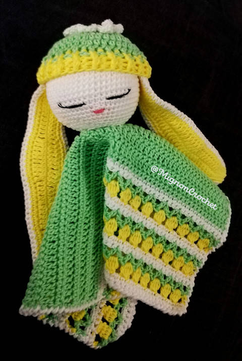Bunny Lovey - security blanket - Lucien at Makerist