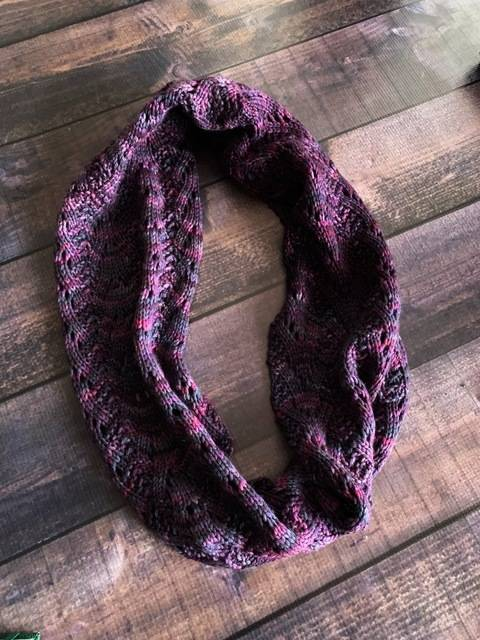 Purple Rain Knitted Cowl