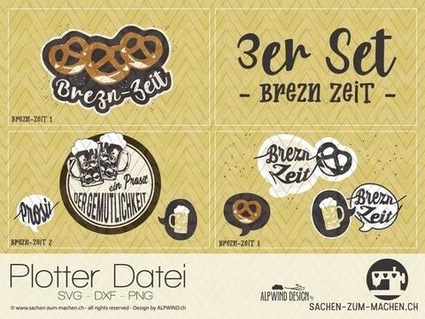 "Plotter-Datei ""Brezn-Zeit"" 3er-Set"