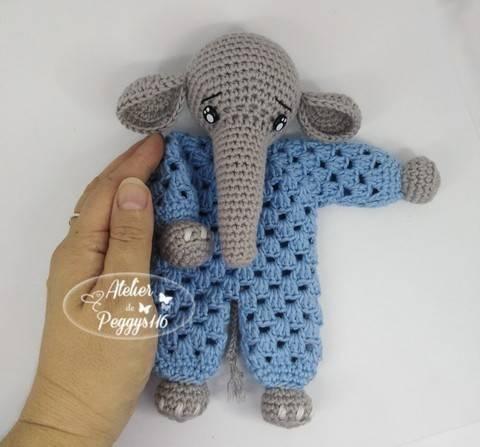 Doudou Eléphant granny chez Makerist