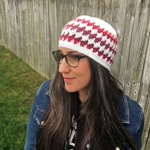 Floating Triangles Beanie