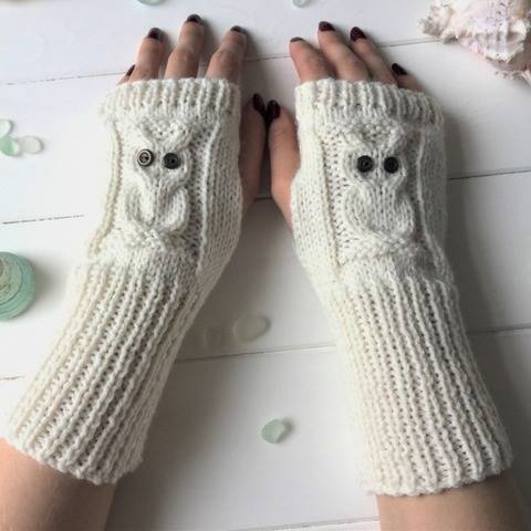 Summer Owl No Digit Mitts - 2yrs to large Adult