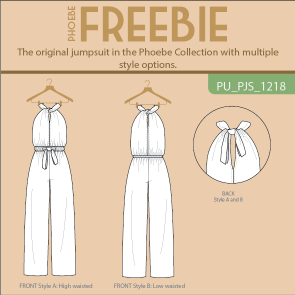 Phoebe Freebie Jumpsuit, Trousers and/or Top
