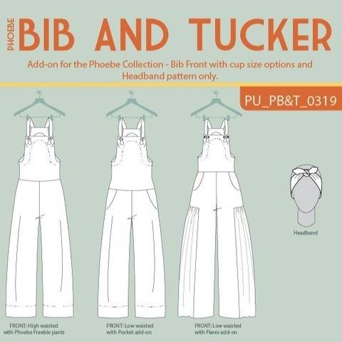 Phoebe Bib and Tucker Overall Jumpsuit add-on at Makerist