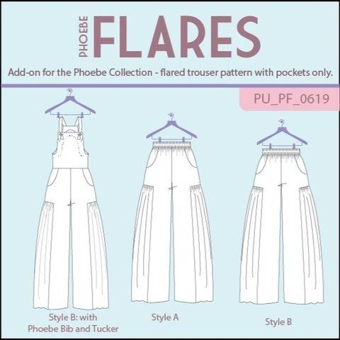 Phoebe Flares Trousers or Jumpsuit add-on at Makerist