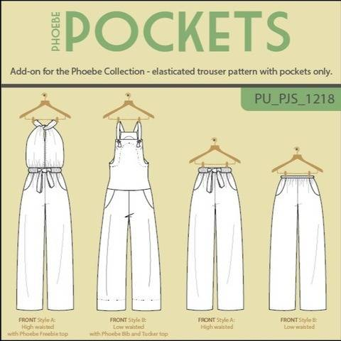 Phoebe Pockets Trousers or Jumpsuit add-on at Makerist