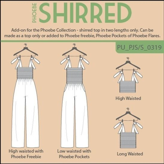 Phoebe Shirred Top or Jumpsuit add-on at Makerist - Image 1