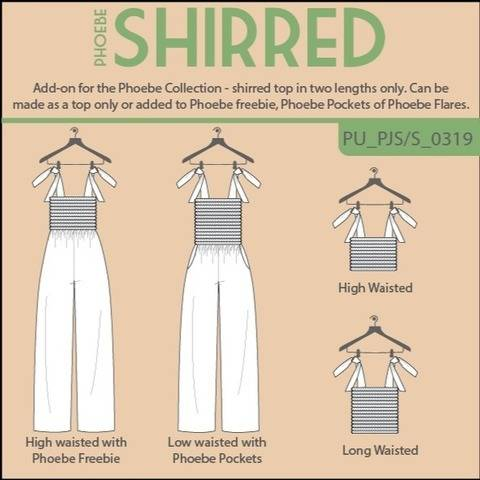 Phoebe Shirred Top or Jumpsuit add-on at Makerist