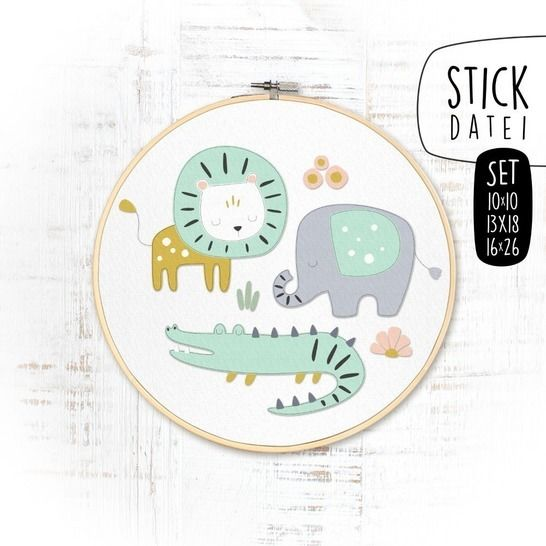 SET JUNGLE BABY DOODLE Stickdatei bei Makerist - Bild 1