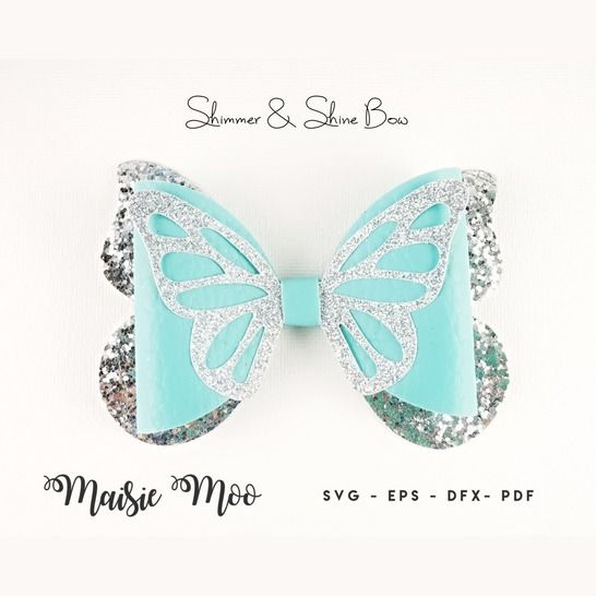 Butterfly Bow Template SVG, Bow SVG, at Makerist - Image 1